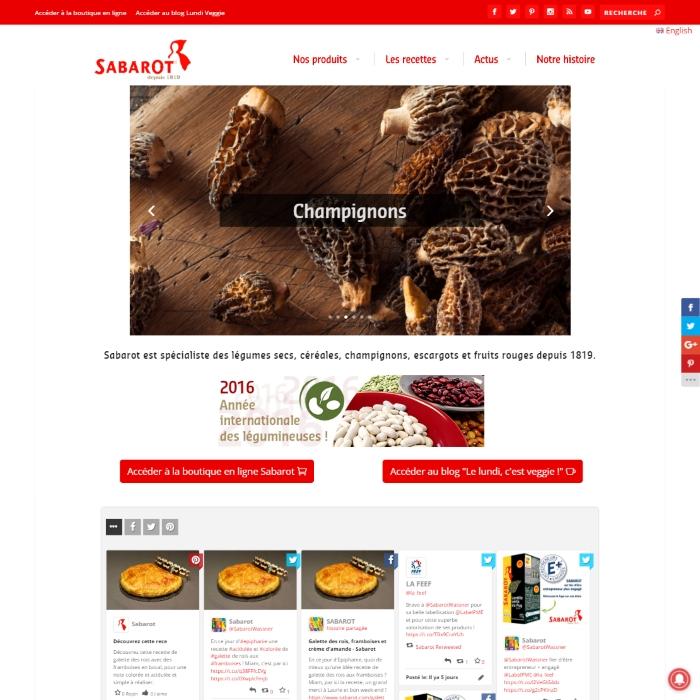 Site internet de Sabarot Wassner SA
